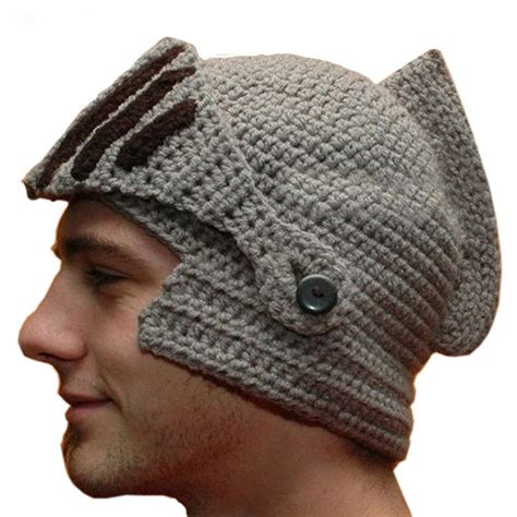 cool knit beanies novelty new helmet caps cool handmade knit