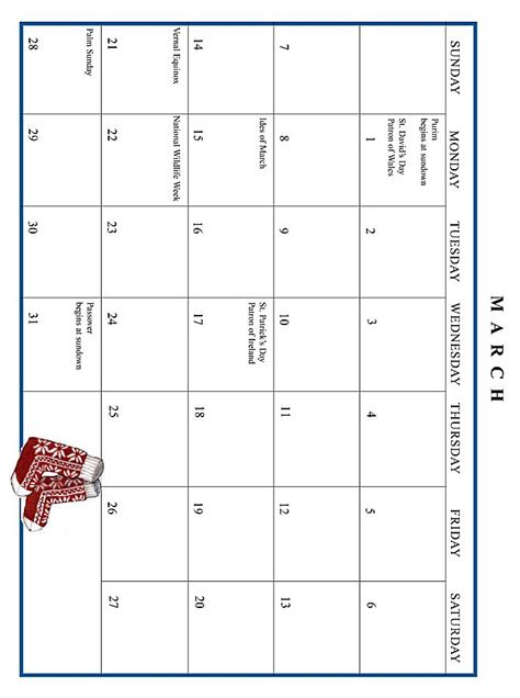 March 1999 Calendar Jan Brett 1999 Calendar March Grid