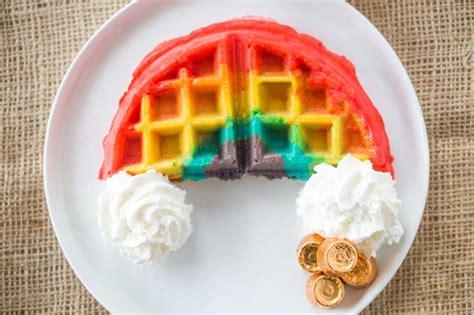 Best Dinner Recipes Of All Time belgian rainbow waffles dinner then dessert