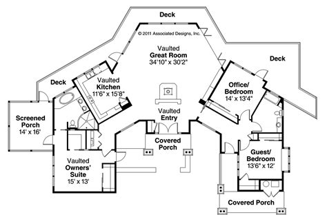 Cabin Style Floor Plans | lodge style house plans sandpoint 10 565 associated