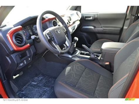 Interior Road by 2016 Inferno Orange Toyota Tacoma Trd Road Cab