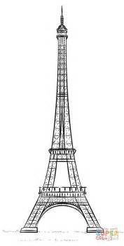 eiffel tower color eiffel tower la tour eiffel coloring page free