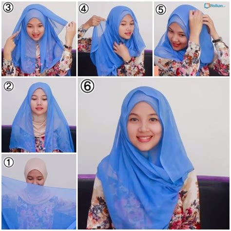 tutorial gambar hijab simple tutorial hijab segi empat paris simple dan modis terbaru