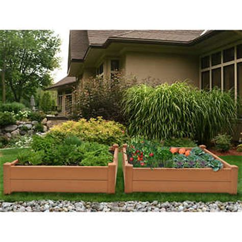 composite raised garden bed composite raised garden bed 2 pk