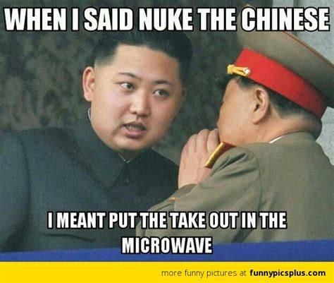Meme China - north korea staging a show of force against a foe it prays