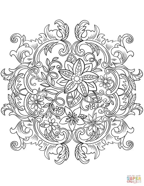 vintage patterns coloring pages vintage baroque flowers coloring page free printable