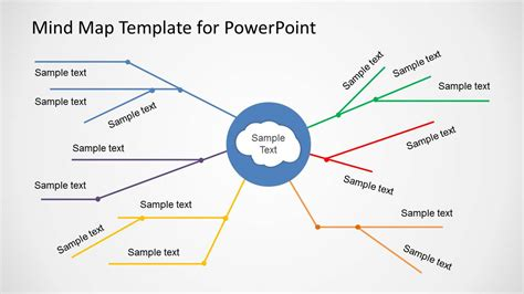 Simple Mind Map Template For Powerpoint Slidemodel Mind Map Template Powerpoint