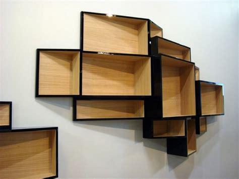 amazing unique furniture bookshelves design black wooden style