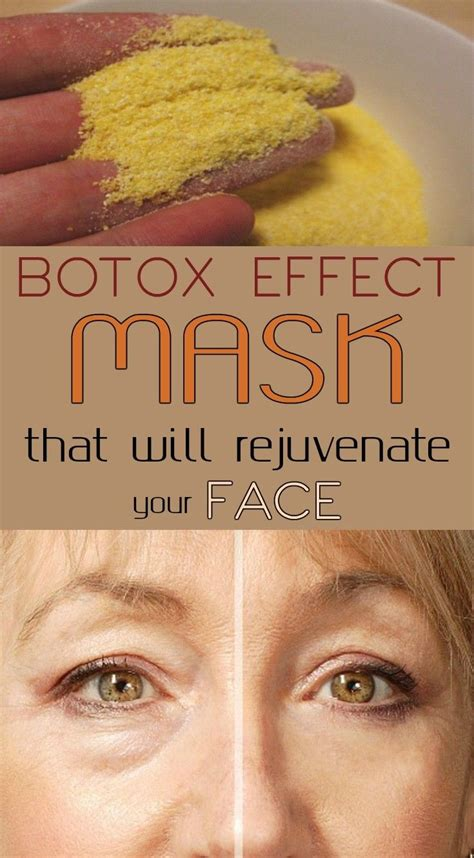 Masker Botox botox effect mask that will rejuvenate your justbeautytips net and signs