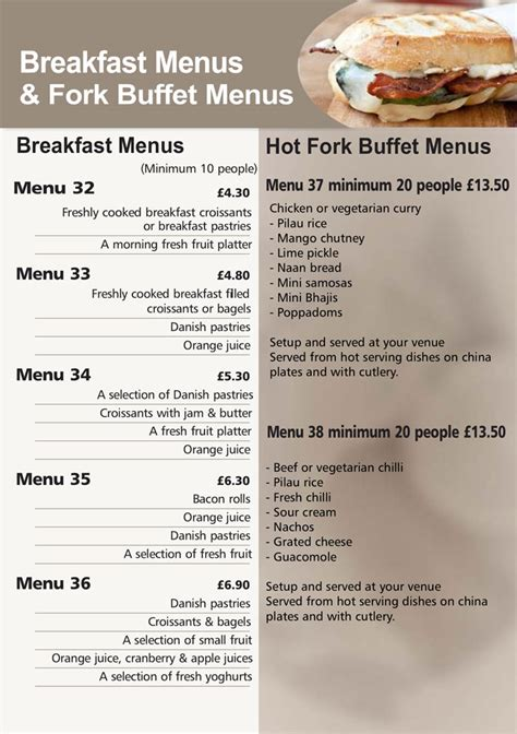 breakfast buffet menu breakfast buffet menu 28 images daily breakfast menu
