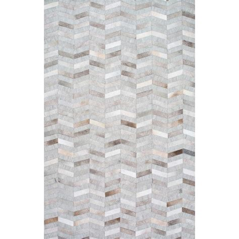 gray contemporary rug nuloom cowhide mitch silver 8 ft x 10 ft area rug txal01a 8010 the home depot