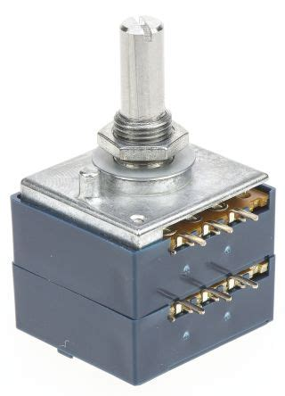 variable resistor alps rk27112a00cf alps rk27 series carbon potentiometer with a 6 mm dia shaft 50kω 177 20 0