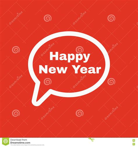 new year speech comic bubble text red yellow vector