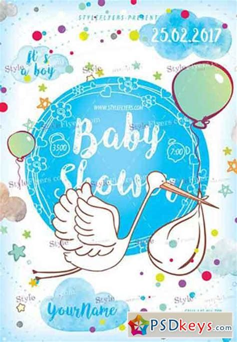 baby shower poster template baby shower psd flyer template 187 free photoshop