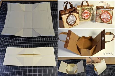 How To Make A Small Paper Bag - wonderful diy mini cardboard gift bag