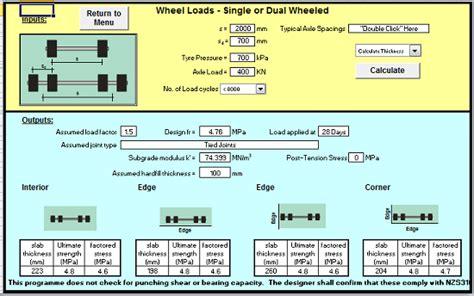 design concrete slab nz standards spreadsheet calculator engineers edge wwwengineersedgecom