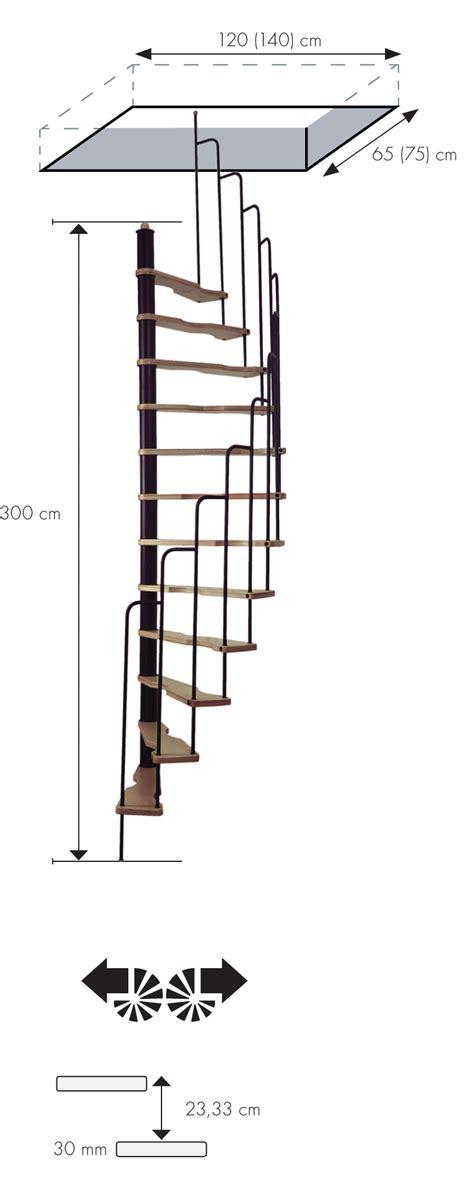 Escalier Gain De Place Colimacon by Escalier Semi H 233 Lico 239 Dal Treppen 70x140 Cm Escalier