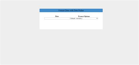format date with jquery format date with date picker using jquery free source