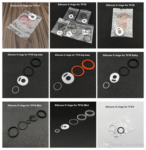 Silicon O Ring For Tfv8 Tank Multi Color 6sjpw5 ecig silicone o ring colorful silicon seal o rings replacement orings set for smoktech tfv12