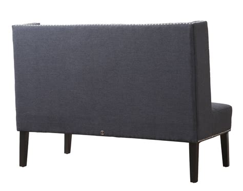 linen banquette halifax grey linen banquette bench from tov tov 63114