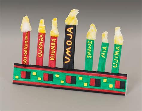 kwanza crafts for folded paper kwanzaa kinara craft crayola