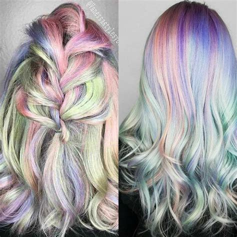 iridescent hair color 40 iridescent holographic hair coloring ideas to make your