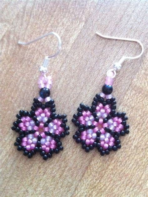beaded flower earring patterns bead on by tracygeorge05 seed bead earrings
