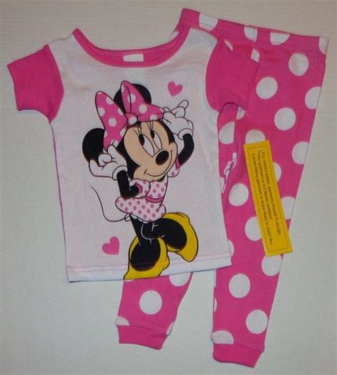 Mickey Pajamas mickey or minnie mouse boys or 2t 3t 4t pjs set