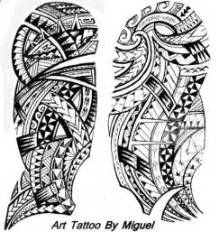 miguel s polynesian half sleeve tattoo design tattoo