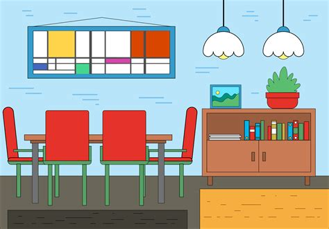 design a room for free free dining room vector design free vector