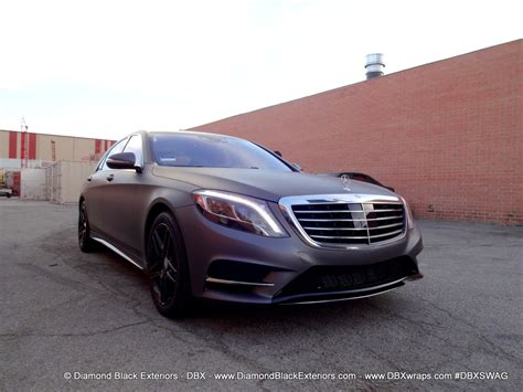 the matte 2014 mercedes s550 wrapped in matte charcoal metallic