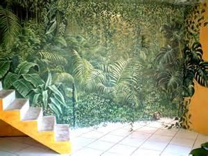 dekoration dschungel d 233 coration jungle fresques en trompe l oeil peinture
