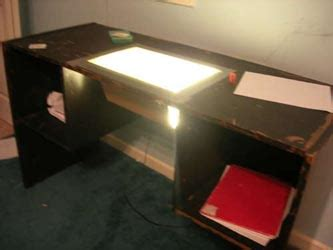 Desk With Light Box by Zen Activity Tables