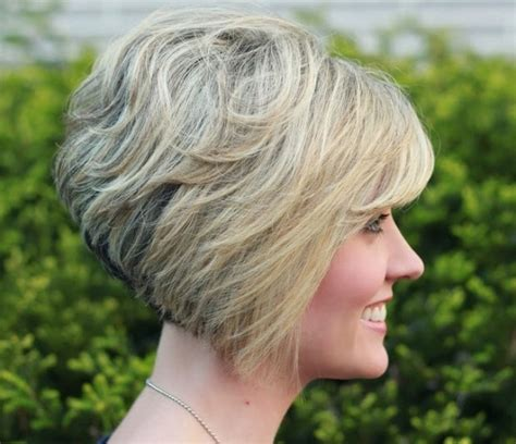 how to cut stack bob with side swept bangs gorgeous stacked bob hairstyle with side swept bangs for
