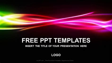 free rainbow abstract powerpoint templates download free