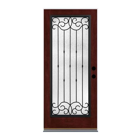 Shop Therma Tru Borrassa Decorative Glass Left Hand Decorative Glass Entry Doors
