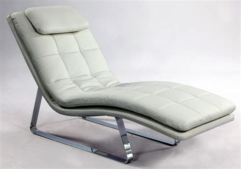 modern leather chaise lounge full bonded leather tufted chaise lounge with chrome legs