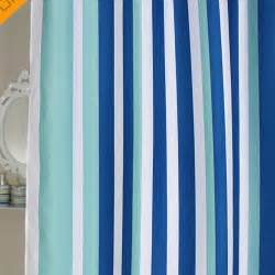 Floor And Decor Coupon blue stripe shower curtain