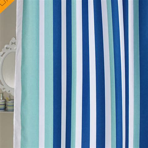 stripe shower curtains blue stripe shower curtain