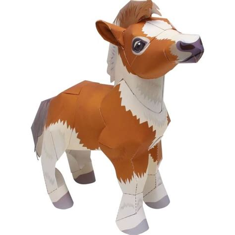 Canon Papercraft Animals - canon papercraft animal paper model falabella miniature