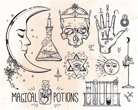 imagenes de simbolos alquimistas sistema de s 237 mbolos de moda de la alquimia del vector