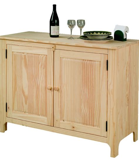 Unfinished Furniture Sideboard unfinished pine sideboard craftsman buffets and