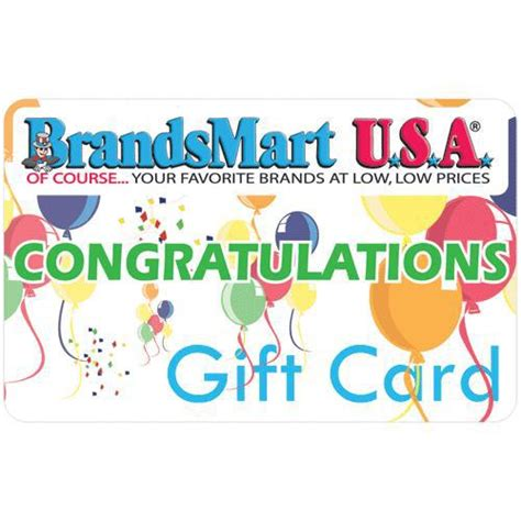 Brandsmart Gift Card - brandsmart usa gift card 25 congratulations twenty five dollar congratulations