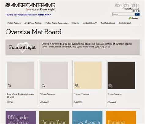 Oversized Mat Board picture framing a frame of mind oversize mat board is now