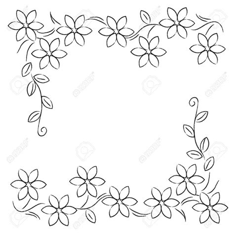 Drawing Of Borders flower border drawing pen drawing style flower border clip