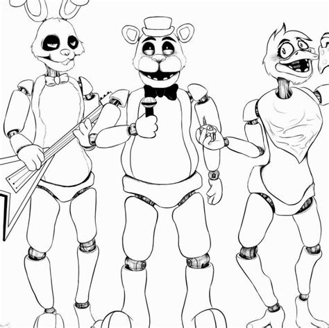 Fnaf 1 Coloring Pages by Fnaf 2 Coloring Pages Coloring Pages