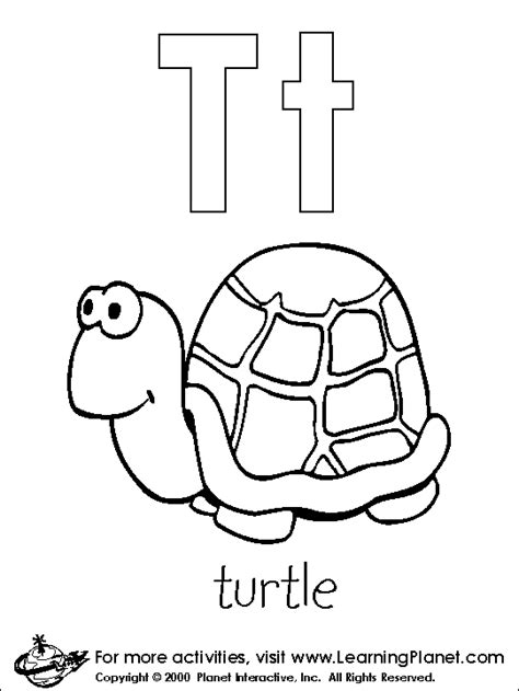 coloring pages letter t letters coloring page print letters pictures to color at