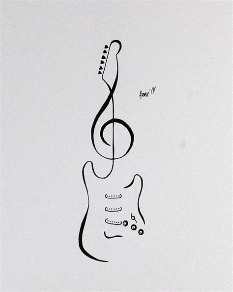 small guitar tattoo designs 25 best ideas about guitar on small