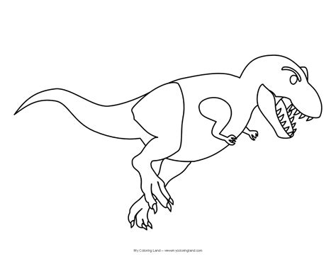 dinosaur t rex colouring pages
