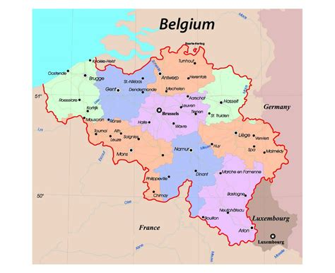 belgica map maps of belgium detailed map of belgium in tourist map travel map of belgium